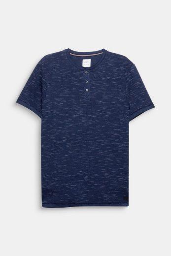 EDC BY ESPRIT Henley-Shirt aus Slub Jersey