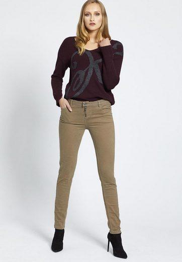khujo 5-Pocket-Hose CLARIA, mit Zierstickerei