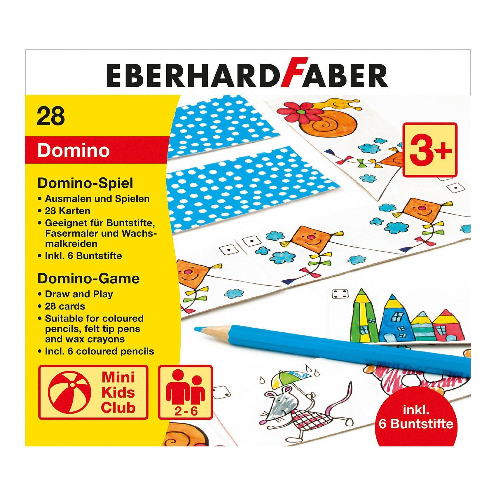 Eberhard Faber Domino Spiel zum Ausmalen, inkl. Buntstifte