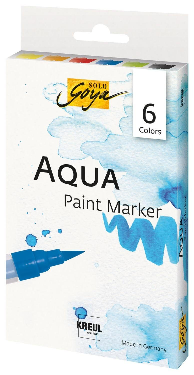"Kreul Aquarellstifte-Set ""Sola Goya Aqua Paint Marker"" 6er-Set"