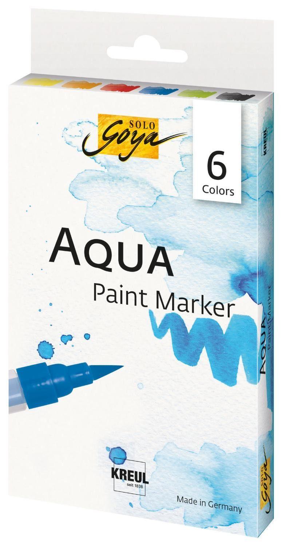 """Kreul Aquarellstifte-Set """"Sola Goya Aqua Paint Marker"""" 6er-Set"""