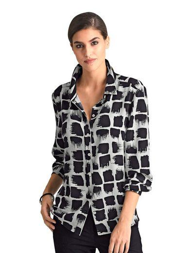 Alba Moda Hemdbluse aus edler bedruckter Seide