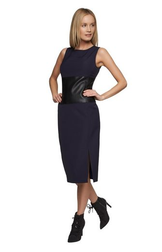 Apart Dress With Waist-use Rundhals