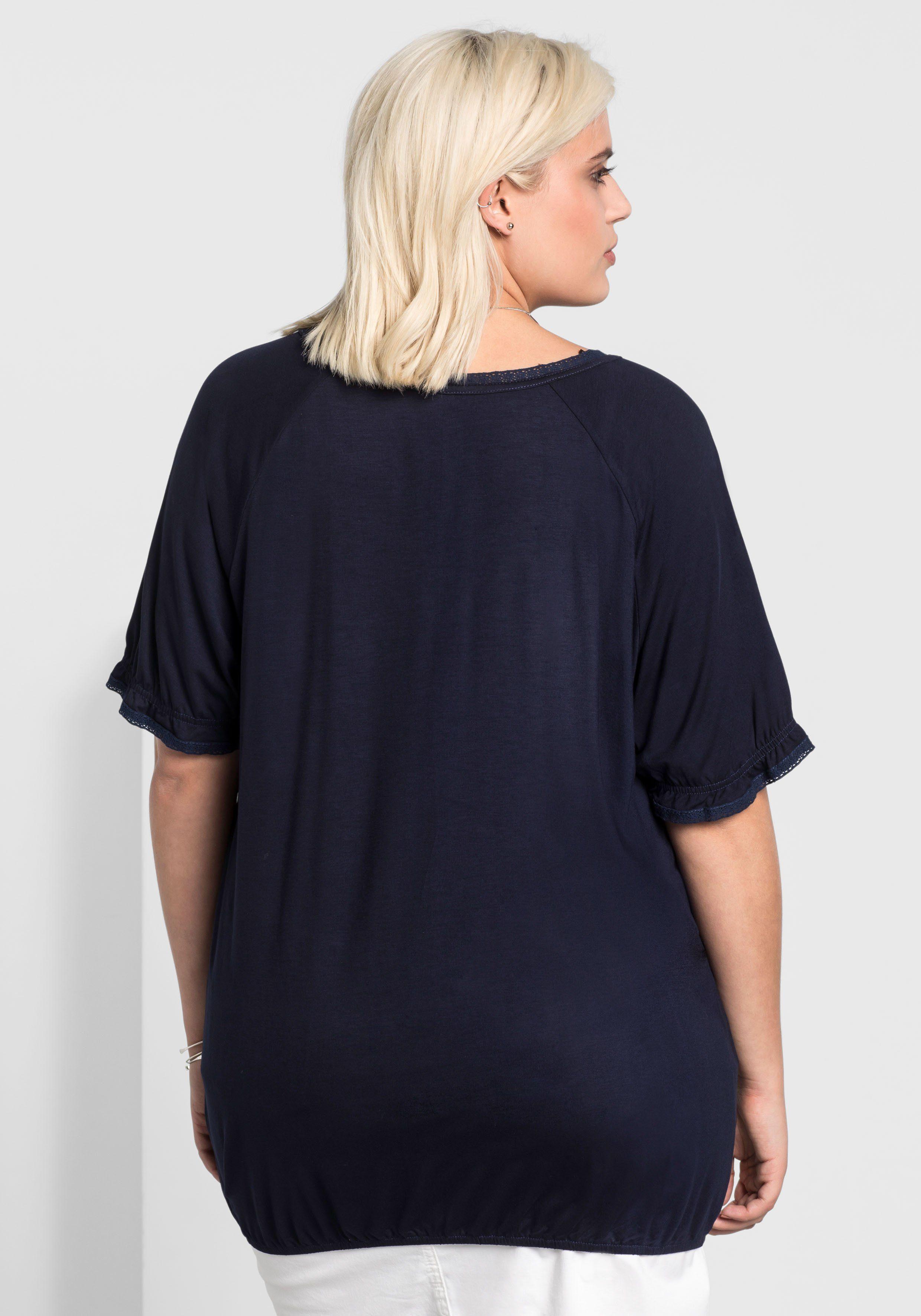 Ausschnitt T Kaufen Sheego Und Style An Kurzarm Online shirtHäkelborte SzVGMUpq