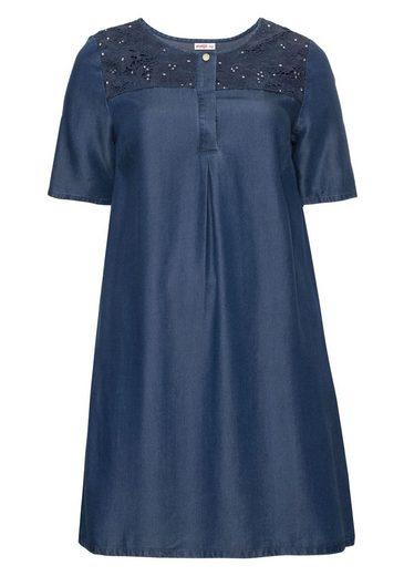 sheego Style Sommerkleid, in Denim-Optik