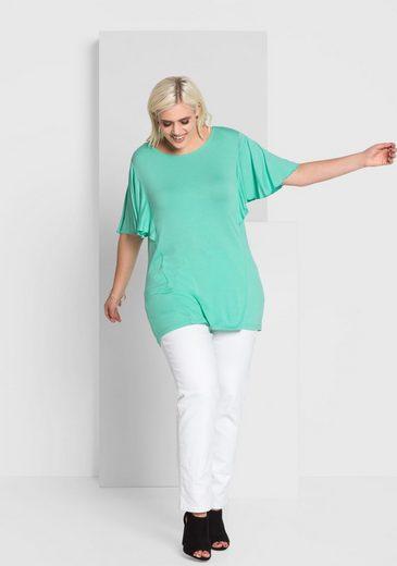 Tee-shirt De Style Sheego, Avec Des Mancherons