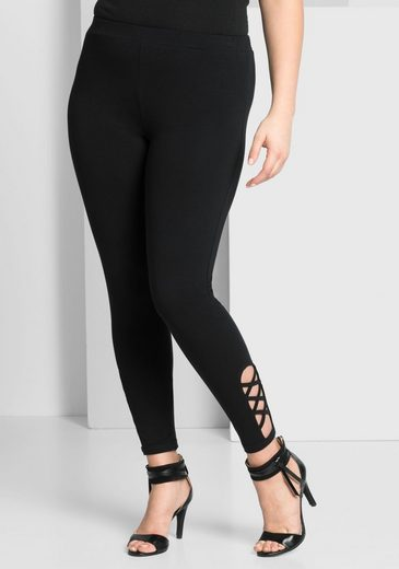 sheego Style Leggings, mit Cut-Outs am Bein