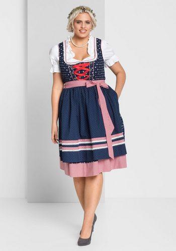 Damen sheego Style Dirndl 3tlg.-Set blau | 04054697537277