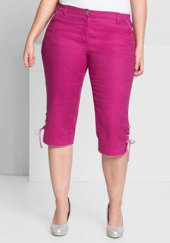 Damen sheego Style 3/4-Hose mit karierten Details rosa | 04054697536713