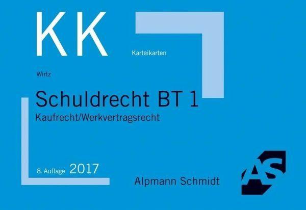 Allgemeine Handelsware »Schuldrecht BT 1 / Alpmann-Cards, Karteikarten...«