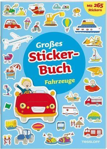 Broschiertes Buch »Großes Sticker-Buch Fahrzeuge«