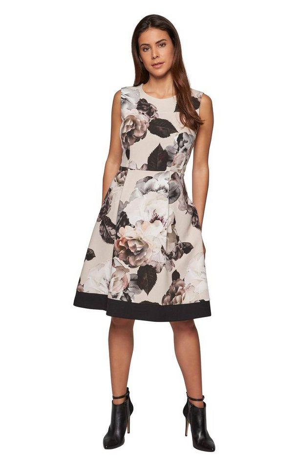 Apart Kleid mit Blumenprint, Saum hinten etwas länger als ...