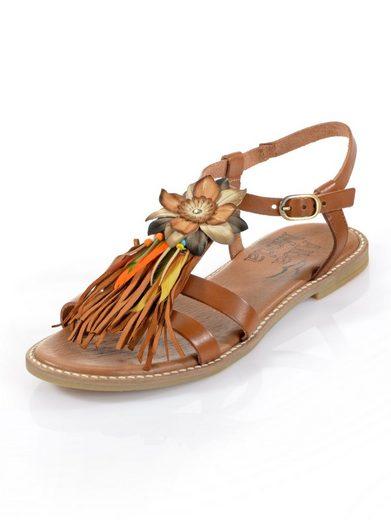 Alba Moda Sandale mit modischer Blumenapplikation