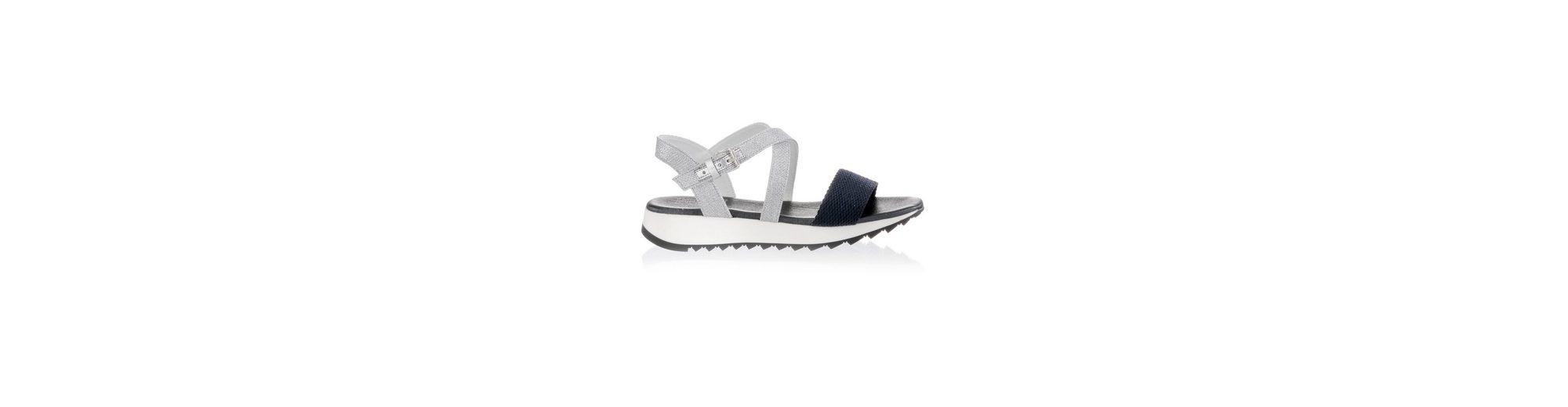 Alba Moda Sandalette mit Riemchen im Metallic-Look Ausverkaufspreise BKqYJ44GX