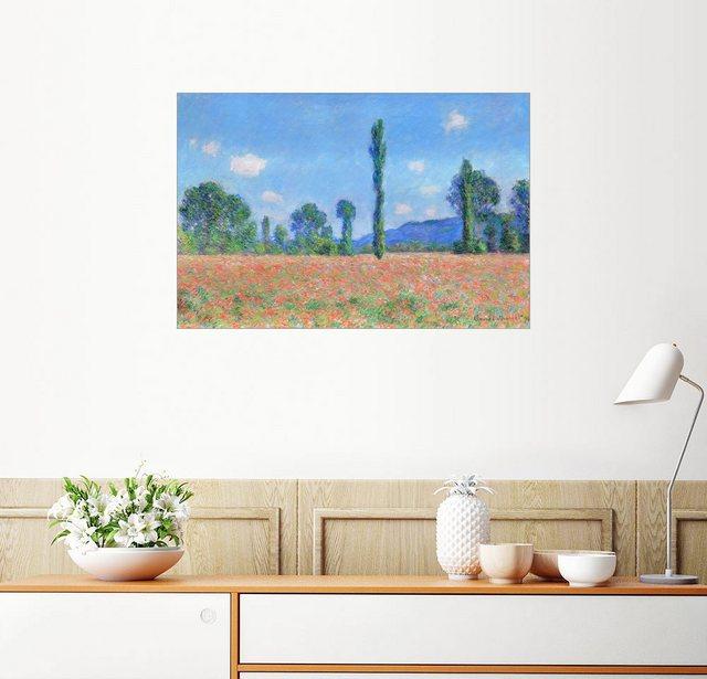 Posterlounge Wandbild - Claude Monet »Mohnfeld«   Dekoration > Bilder und Rahmen > Bilder   Bunt   Holz - Aluminium   Posterlounge