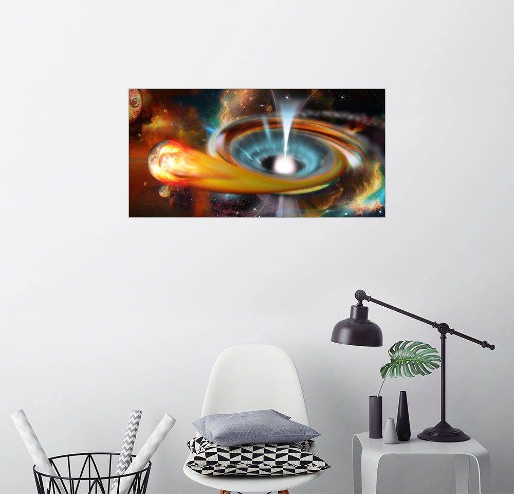 Posterlounge Wandbild - Kalle60 »Schwarzes Loch mit Pulsar, Universum, Galaxie«
