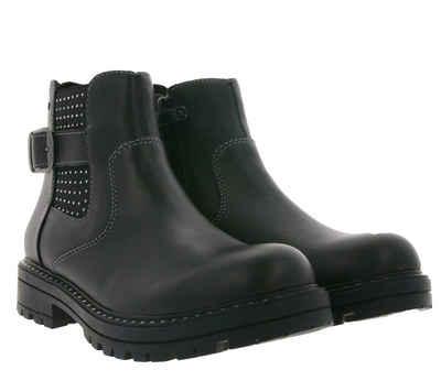 Lurchi »Lurchi Erika Biker-Boots rockige Damen Echtleder-Stiefel mit Schnallen Schuhe Schwarz« Stiefel
