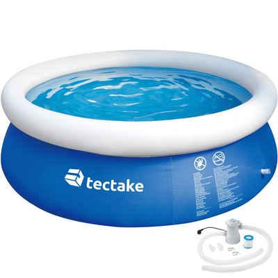 tectake Planschbecken »Swimming Pool rund mit Filterpumpe Ø 300 x 76 cm«