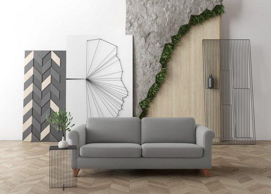 machalke® 3-Sitzer »amadeo«, mit geschwungenen Armlehnen, Breite 213 cm