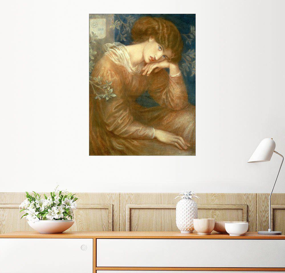 Posterlounge Wandbild - Dante Charles Gabriel Rossetti »Träumerei«