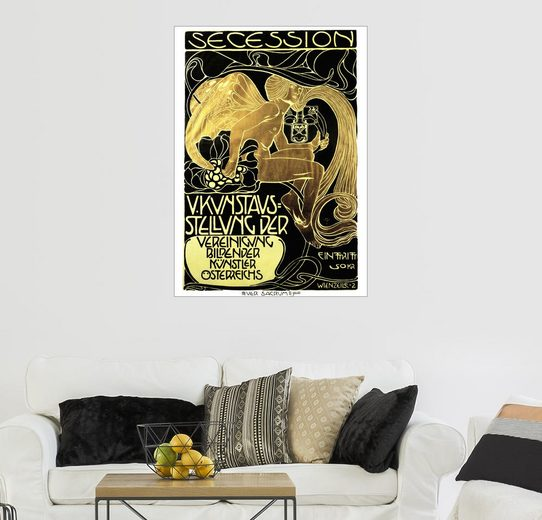 Posterlounge Wandbild - Koloman Moser »Plakat Secession«