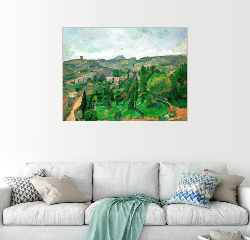 Posterlounge Wandbild - Paul Cézanne »Landschaft in der Ile-de-France«