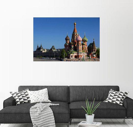 Posterlounge Wandbild - Walter Bibikow »Basiliuskathedrale am Roten Platz in Moskau«