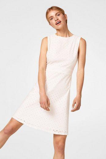 EDC BY ESPRIT Kleid aus Baumwolle mit Lochspitze