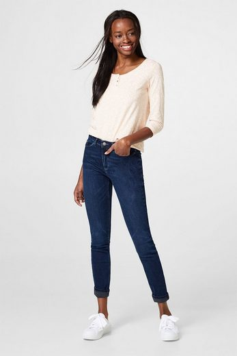 Esprit Super-stretch Jeans With Contrast-detail