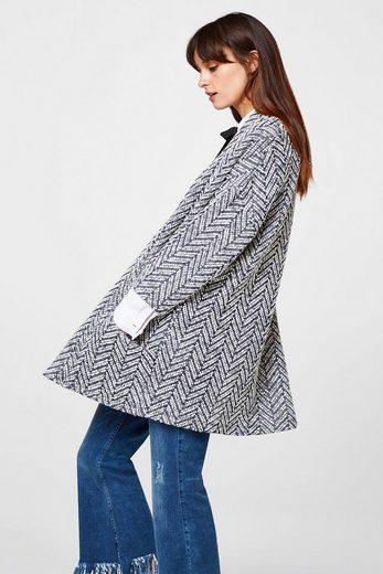 ESPRIT Jacke aus kompaktem Struktur-Jersey