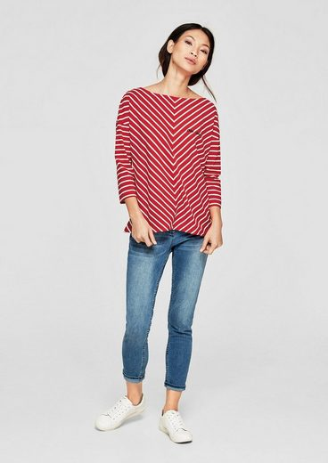 s.Oliver RED LABEL Boxy-Shirt mit Diagonalstreifen