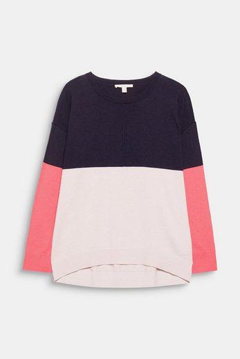 ESPRIT Colorblock-Pullover mit Kaschmir