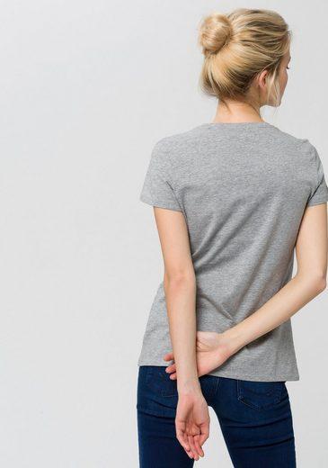 ESPRIT Rundhalsshirt, mit Motivprint