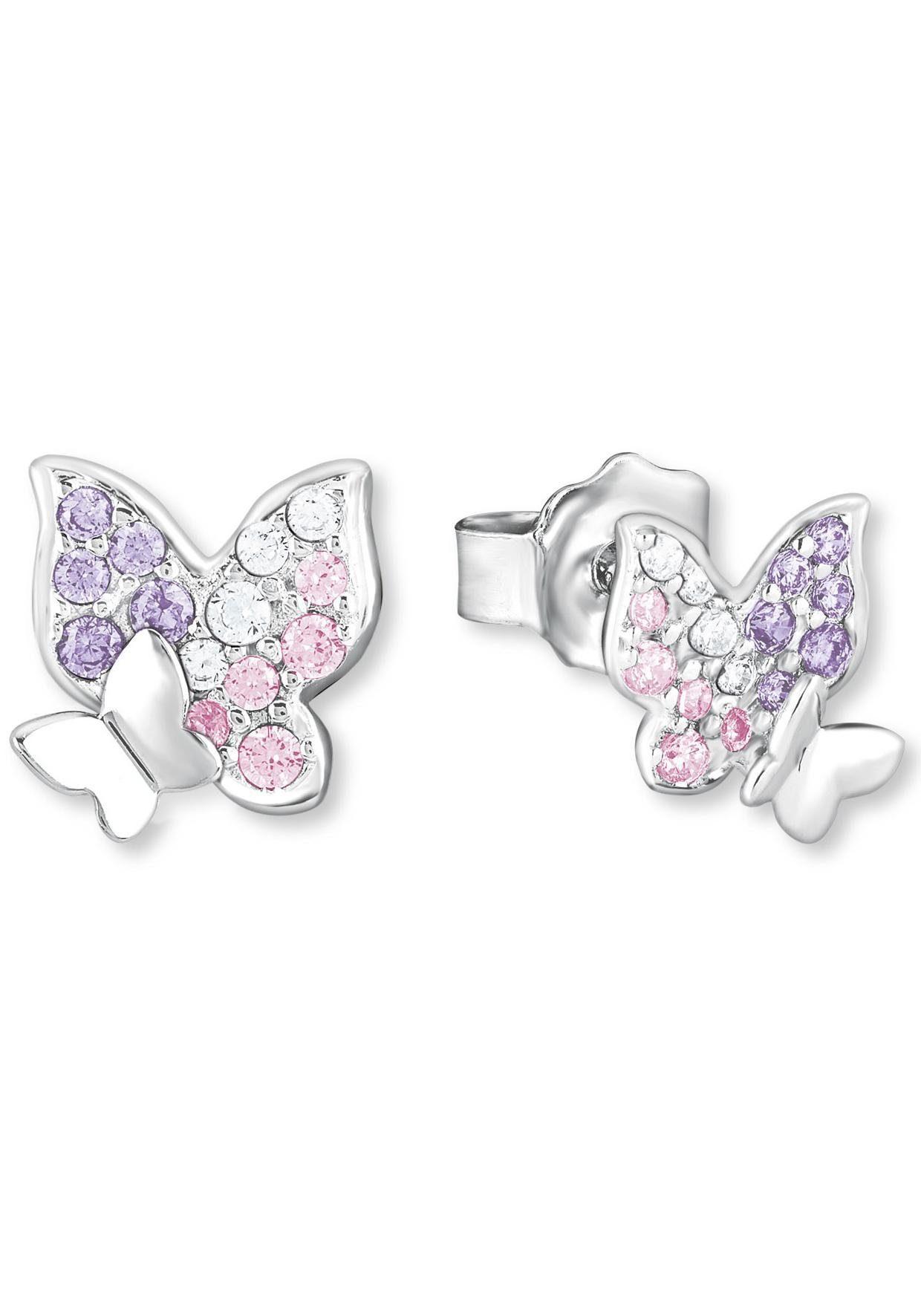 Prinzessin Lillifee Paar Ohrstecker »Schmetterling, 2021063«, mit Zirkonia
