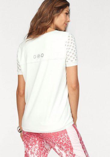 Sportalm Kitzbühel T-Shirt, mit aufwendig gearbeiteten Spitzenärmeln