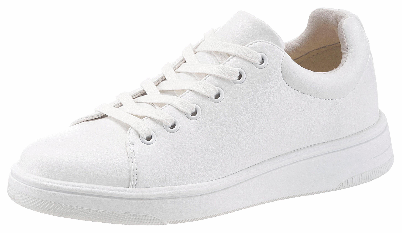 Tamaris »Lederimitat/Textil« Sneaker, weiß, weiß