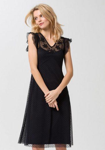 ESPRIT Collection 2-in-1-Kleid, mit Mesh-Überkleid