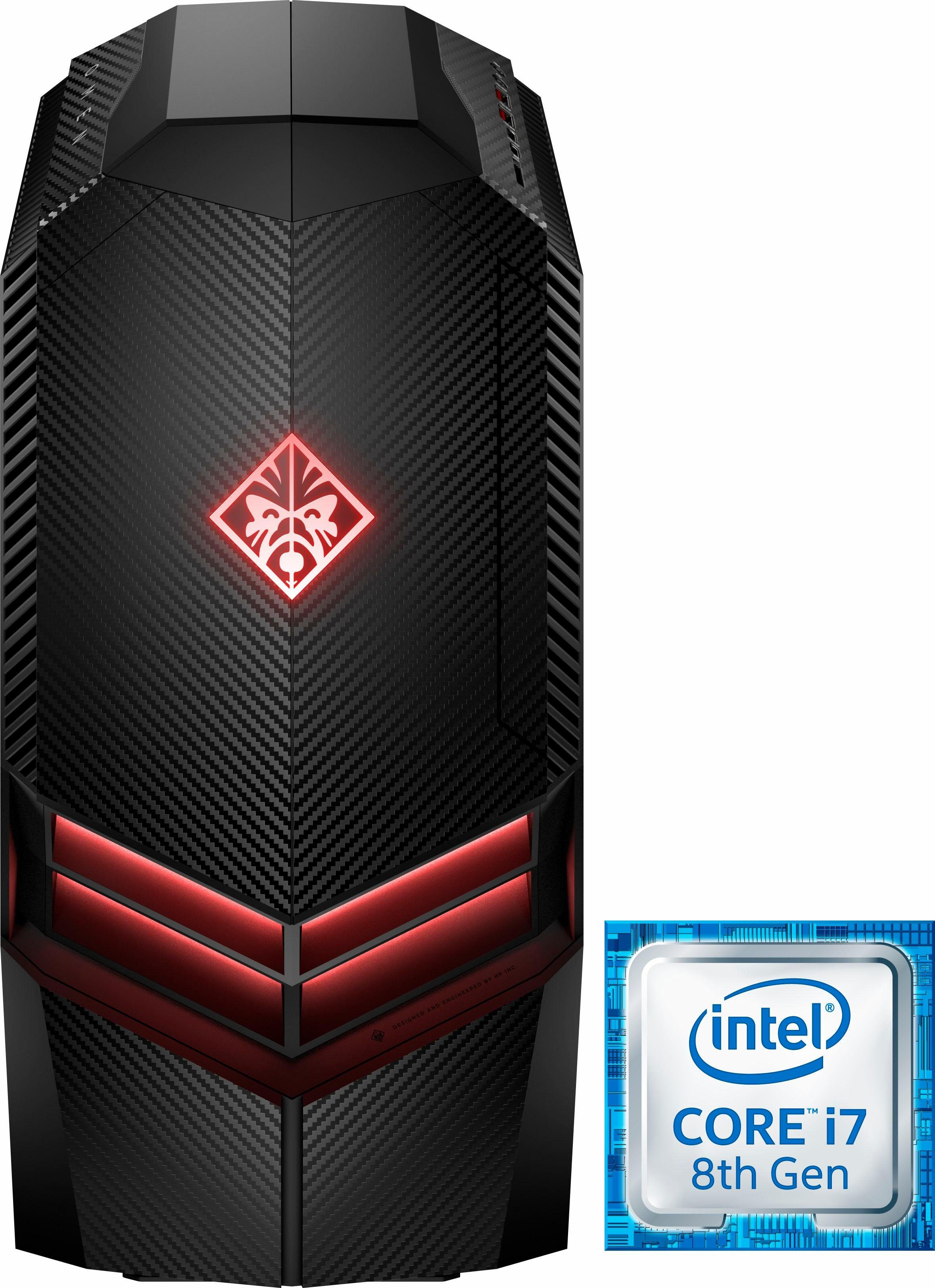 OMEN by HP 880-158ng Gaming-PC (Intel Core i7, GTX 1070, 16 GB RAM, 1000 GB HDD, 256 GB SSD, Luftkühlung)