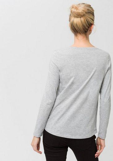 ESPRIT Langarmshirt, mit Metallic-Effekt