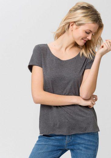 EDC by Esprit T-Shirt, mit Nietenbesatz
