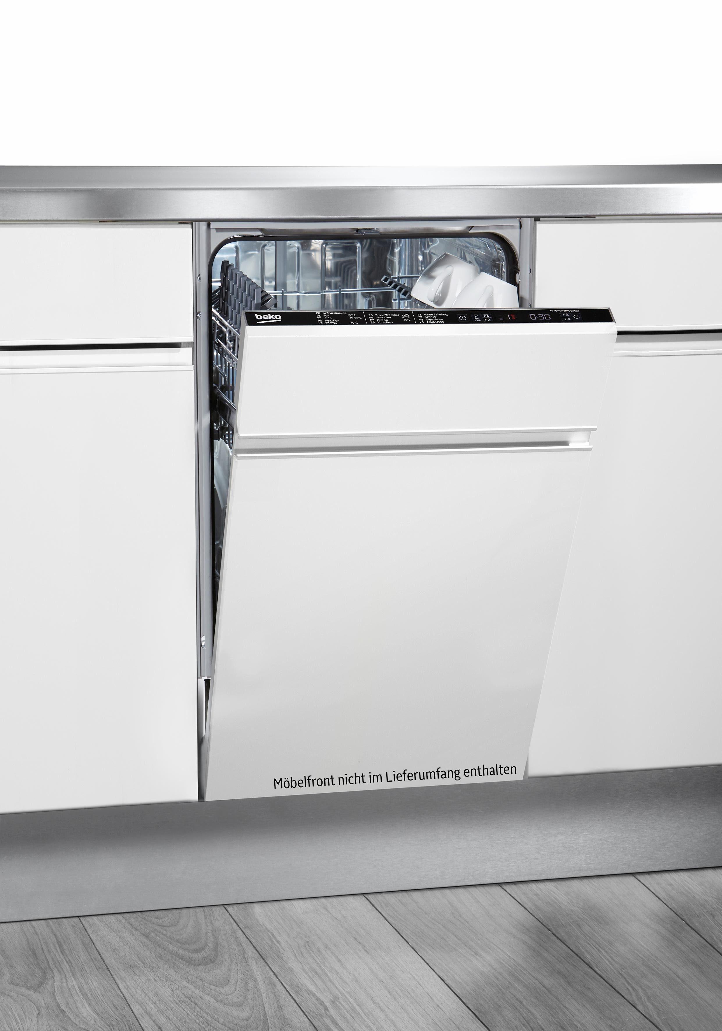 BEKO vollintegrierbarer Geschirrspüler, DIS28020, 9 l, 10 Maßgedecke, 45 cm breit