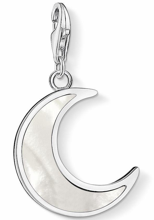 THOMAS SABO Charm-Einhänger »Mond Perlmutt, 1536-029-14«, mit Perlmutt