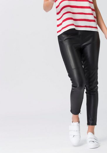 Esprit Treggings, With Art Leather Trim And Zipper At The Hem
