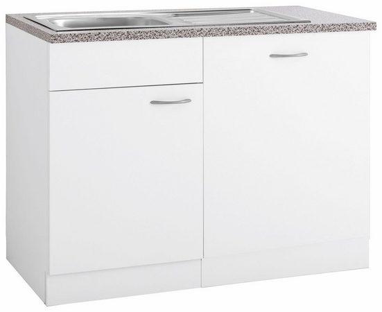wiho Küchen Spülenschrank »Kiel« 110 cm breit, inkl. Tür/Griff/Sockel für Geschirrspüler