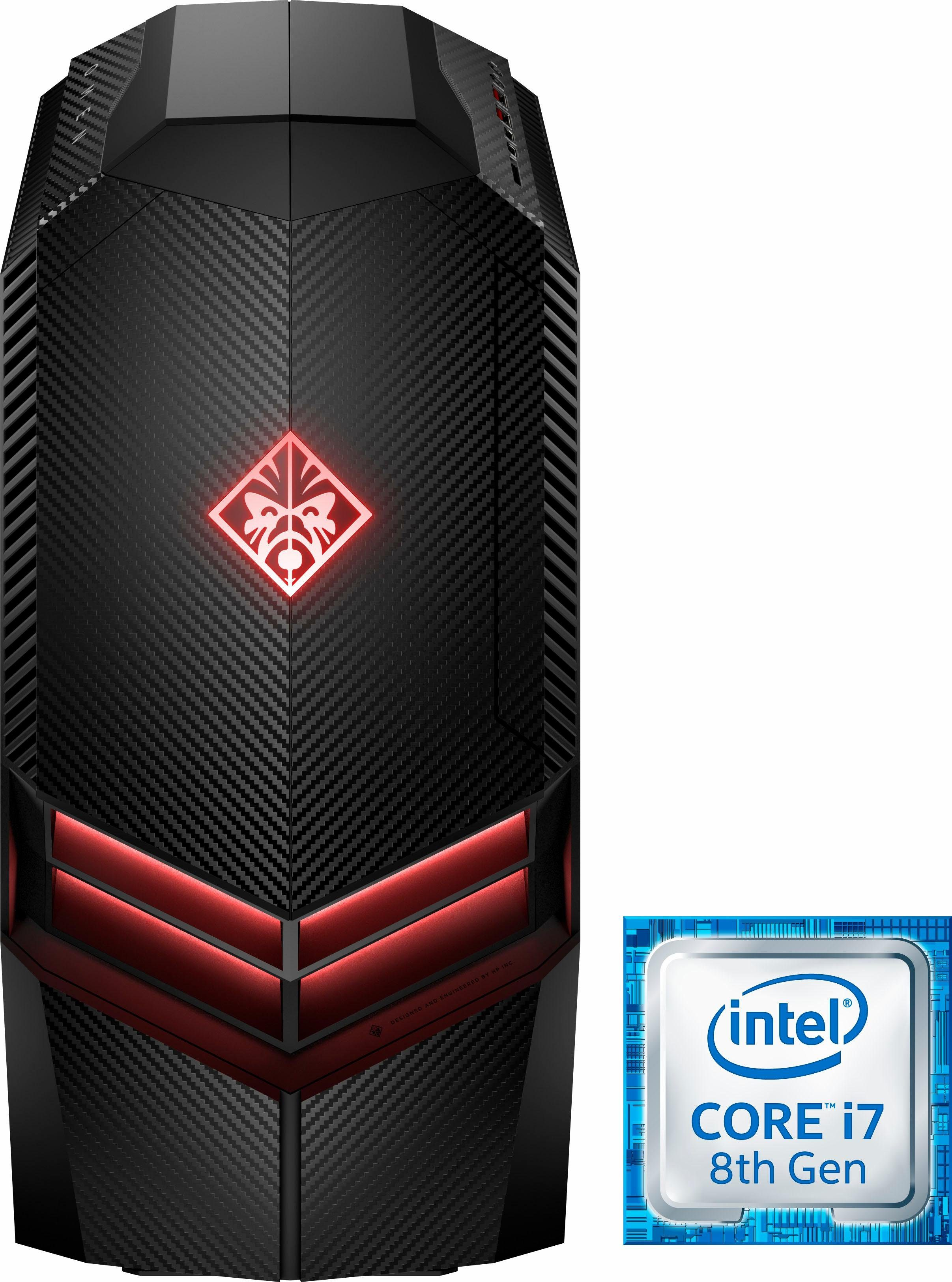 OMEN by HP 880-162ng Gaming-PC (Intel® Core i7, GTX 1080, 32 GB RAM, 3000 GB HDD, 512 GB SSD, Wasserkühlung)