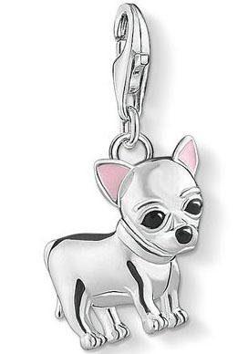 THOMAS SABO Charm-Einhänger »Chihuahua, 1488-041-21« mit Emaille
