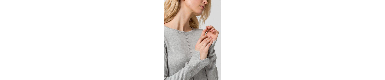 EDC by Esprit Strickkleid, mit breiten Bündchen und geschlitzten Ärmelenden