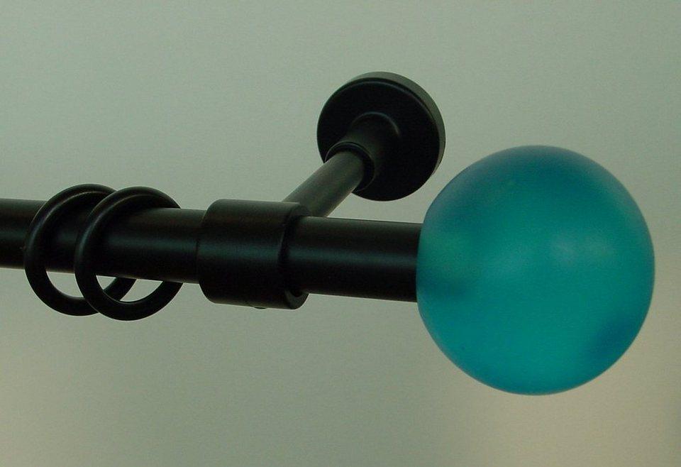 Gardinenstange »Pluto«, Garesa, nach Maß in schwarz/blau