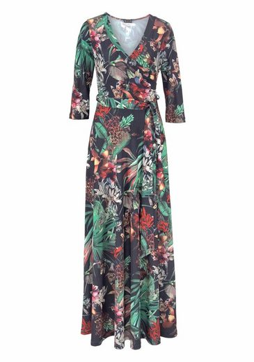 Laura Scott Maxikleid, mit tropical Alloverprint