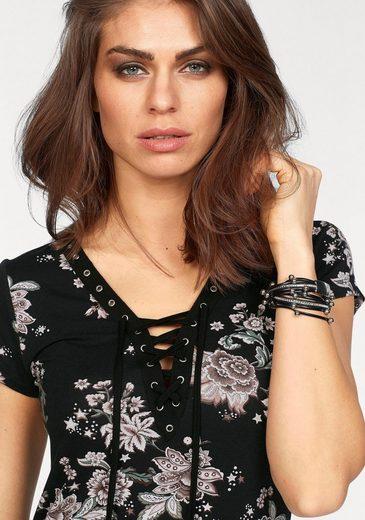 Laura Scott T-Shirt, mit Schnürung am Ausschnitt